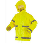 Stearns® ANSI Class 2 Storm Jacket, .43mm PVC/Polyester, Hi-Vis Yellow, XL