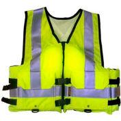 Stearns® Work Zone Gear™ Life Vest, USCG Type III, Hi-Viz Green, Nylon, 3XL