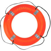 "Stearns® 30"" Ring Buoy with Reflective Tape, USCG Type IV, Orange"
