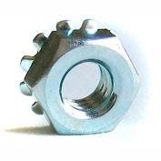 #4-40 Keps Locknut - Carbon Steel - Zinc - UNC - Pkg of 100