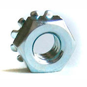 #10-32 Keps Locknut - Carbon Steel - Zinc - UNF - Pkg of 100