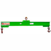 Caldwell 416-1/4-2, Composite Adjustable Spreader Lifting Beam, 14 Ton Capacity, 2' Hook Spread