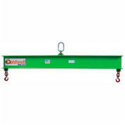Caldwell 419-1/2-3, Composite Lifting Beam, 1/2 Ton Capacity, 3' Hook Spread