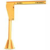 Caldwell A360-1-10/12, Floor Mounted Jib Crane, 1 Ton, 10' Height, 12' Span
