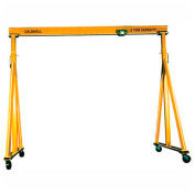Caldwell K90-4-14/20, Adjustable Steel Gantry, 4 Ton Cap, 14' Ht, 20' Span, 4-Steel Swivel Casters