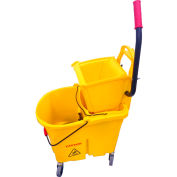 O'Dell Mop Bucket/Wringer Combo, Down Press, Pack Qty 1 MBW35Y-DP