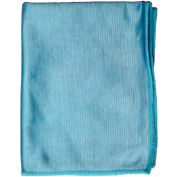 "O'Dell 12 X 16"" Woven Microfiber Glass/Mirror Cloth, Pack Qty 12 Blue MFW-B - Pkg Qty 12"