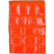 First Aid Door Pouch For 4 Shelf First Aid Cabinet, 20 Pocket
