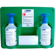 A-Med Eye and Skin Wash Double Bottle Station w/ Eye -Opener, Two 16 Oz., 5020-0301