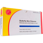 Butterfly Skin Closures, Medium, 16 pcs/Box - Pkg Qty 10