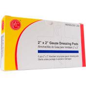 "Gauze Dressing Pads, 2"" x 2"", 6 pcs/Box - Pkg Qty 10"