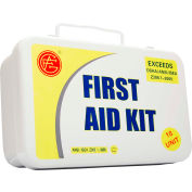 Unitized ANSI First Aid Kit, 10 Unit, Metal Case