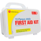 Genuine® Basic 10 Person ANSI/OSHA, Bulk First Aid Kit, Plastic Case with Eyewash