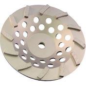 "Edmar Abrasive Company 00859A Segmented Turbo Cup Grinding Wheel 7"" x5/8""-11 Diamond"