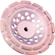 "Edmar Abrasive Company 00878S Double Rim Cup Grinding Wheel 7"" x 5/8""-11 Diamond"