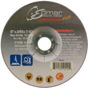 "Edmar Abrasive Company 10162 Cut-Off Wheel T1 6"" x .045"" x 7/8"" 46 Grit Diamond Grain - Pkg Qty 50"