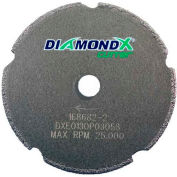 "Edmar Abrasive Company 12039 Cut-Off Wheel T1 3"" x .060"" x 3/8 - 1/4"" 50 Grit Diamond Grain"