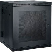 Tripp Lite 12U SmartRack Low-Profile Switch-Depth Wall-Mount Rack Enclosure Cabinet, Hinged Back