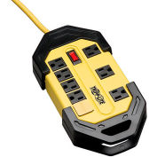 Power It! 8-Outlet Safety Power Strip OSHA Yellow 15-ft. Cord Hang Holes, Cord Wrap, Outlet Covers