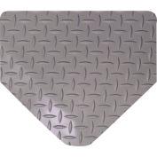 "Wearwell 415 Diamond Plate Diamond Plate Ergonomic Mat 24"" X 75' X 9/16"" Gray"