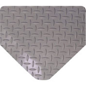 "Wearwell 415 Diamond Plate Diamond Plate Ergonomic Mat 36"" X 75' X 9/16"" Gray"