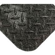 "Wearwell® Diamond-Plate SpongeCote Mat with GRITSHIELD 15/16"" Thick 3' x 5' Black"