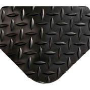 "Wearwell 495 Diamond Plate Diamond Plate Ergonomic Mat 48"" X 75' X 15/16"" Black"