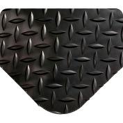 "Wearwell 497 Diamond Plate Diamond Plate Ergonomic Mat 24"" X 3' X 5/8"" Black"