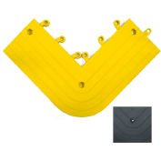 "Wearwell 561 ErgoDeck Heavy Duty Outside Corner with Grit shield 6""X15"" Yellow"