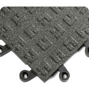 "Wearwell 563 ErgoDeck Heavy Duty Solid with GRIT SHIELD 18""X18"" Black"