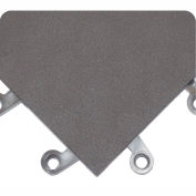 Wearwell ErgoDeck Smooth Solid, 7/8in Thick, 18 x 18, Charcoal, Case of 10
