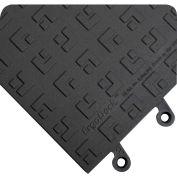 "Wearwell® ErgoDeck® Max GP Anti Fatigue Mat 7/8"" Thick 1.5' x 1.5' Black - Case of 10"