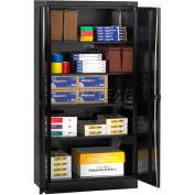 "Tennsco Standard Storage Cabinet 1470RH-BLK - Unassembled, Recessed Handle,36""W X 18""D X 72""H, Black"