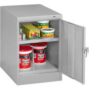 "Tennsco Desk Height Cabinet 1824DP 02 - Welded 19""W x 24""D x 30""H Medium Gray"
