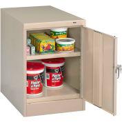 "Tennsco Desk Height Cabinet 1824DP 216 - Welded 19""W x 24""D x 30""H Champagne Putty"