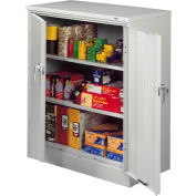 "Tennsco Deluxe KD Counter Height Cabinet 36""W x 18""D x 42""H Light Grey"