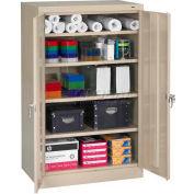 "Tennsco Standard Storage Cabinet 6024 214  - Welded 36""W X 24""D X 60""H, Sand"