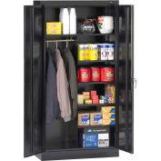 """Tennsco Standard Welded Combination Cabinet 36""""W x 18""""D x 72""""H Black"""