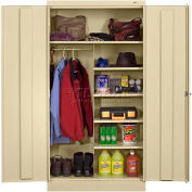 """Tennsco Standard Combination Cabinet 7220-CPY - Welded 36""""W X 24""""D X 72""""H, Champagne Putty"""
