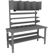 Tennsco Complete Packing Table with Steel Square Edge Top - 72 x 36