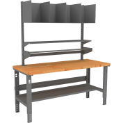 Tennsco Packing Table with Butcher Block Square Edge Top - 72 x 36