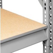 "Tennsco Extra Shelf Level for Bulk Storage Rack - 72""W x 24""D - Wood Deck - Medium Gray"