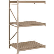 "Tennsco Bulk Storage Rack - 72""W x 36""D x 84""H - Add-On - 3 Shelf Levels - Steel Deck - Sand"