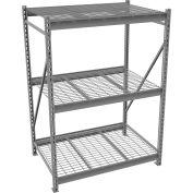 "Tennsco Bulk Storage Rack - 72""W x 36""D x 96""H - Starter - 3 Shelf Levels - Wire Deck - Medium Gray"