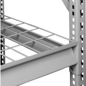 "Tennsco Extra Shelf Level for Bulk Storage Rack - 96""W x 24""D - Wire Deck - Medium Gray"