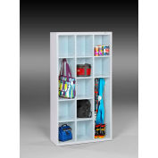 "Tennsco Cubby Cabinet CC-66-AWH - Welded 34-1/2""W x 13-1/2""D x 66""H Arctic White"