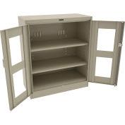 """Tennsco C-Thru Deluxe Storage Cabinet CVD1842 214 - Unassembled 36""""W X 18""""D X 42""""H, Sand"""
