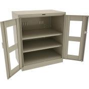 "Tennsco C-Thru Deluxe Counter Height Cabinet CVD2442 214 - Unassembled 36""W X 24""D X 42""H, Sand"