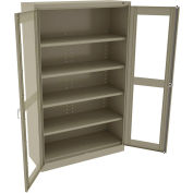 "Tennsco C-Thru Jumbo Storage Cabinet CVDJ1878SU 214 - Welded 48""W X 18""D X 78""H, Sand"
