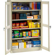 "Tennsco C-Thru Jumbo Storage Cabinet CVDJ2478SU-SND - Welded 48""W X 24""D X 78""H, Sand"
